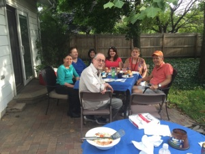 HCAFA Exec Comm BBQ & Retirement Party:  Larry, Charmian, Janice, Arlene, Danuta, Taimi, and Rob
